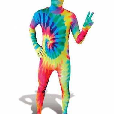 Second skin kostuum Tie-Dye carnaval