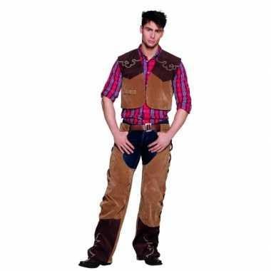 Sheriff kostuum bruin carnaval