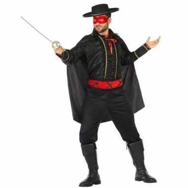 Spaanse held zwart/rood verkleed kostuum heren carnaval