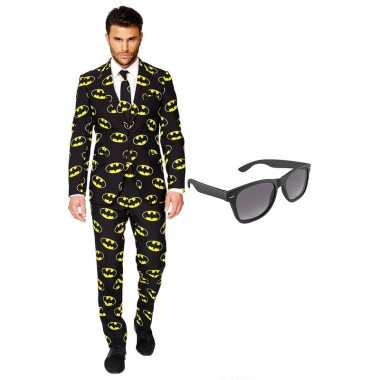 Verkleed batman net heren kostuum maat (xxxl) gratis zonnebril carna