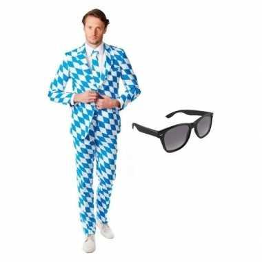Verkleed beierse print heren kostuum maat (xl) gratis zonnebril carn