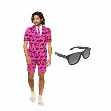 Verkleed palmbomen zomer net heren kostuum maat (l) gratis zonnebril