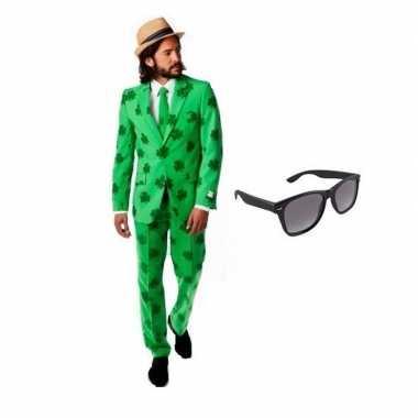 Verkleed sint patricks day heren kostuum maat (xl) gratis zonnebril
