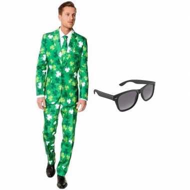 Verkleed sint patricks day print net heren kostuum maat (s) gratis z