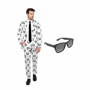 Verkleed stormtrooper print net heren kostuum maat (l) gratis zonneb
