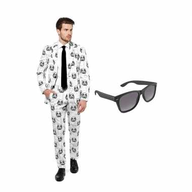 Verkleed stormtrooper print net heren kostuum maat (m) gratis zonneb