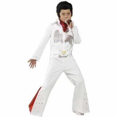 Witte Elvis kostuum kids carnaval