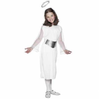 Witte engelen kostuum jurk kinderen carnaval
