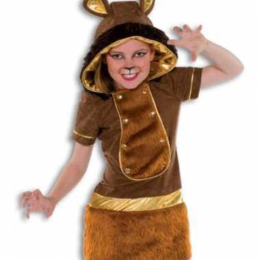 Zachte pluche leeuw kostuum meisjes carnaval