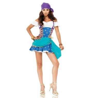4506993ed8a3a4 Zigeunerinnen kostuum jurkje dames carnaval | Kostuum-carnaval.nl