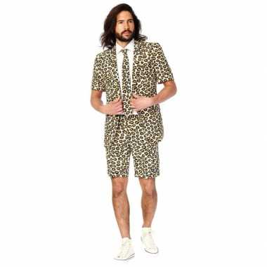 Zomer kostuum jaguar print heren carnaval