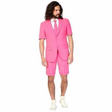 Zomer kostuum roze heren carnaval