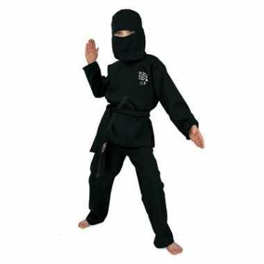 Zwart Ninja kostuum kids carnaval