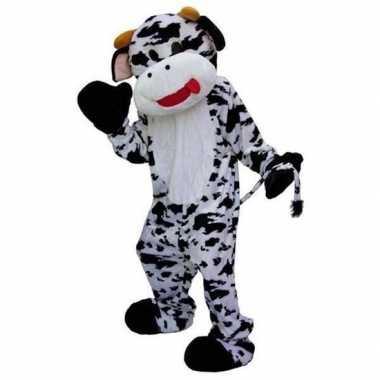 Zwart wit koeien kostuum carnaval