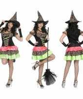 Gekleurde oktoberfestkostuum jurk dames carnaval