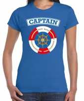 Kapitein captain verkleed t kostuum blauw dames carnaval