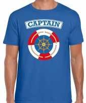 Kapitein captain verkleed t kostuum blauw heren carnaval