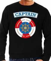 Kostuum kapitein captain verkleed sweater zwart heren carnaval