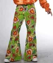 Kostuum kinder broeken hippie hartjes carnaval