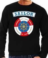 Kostuum zeeman sailor verkleed sweater zwart heren carnaval