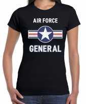 Luchtmacht air force verkleed t kostuum zwart dames carnaval