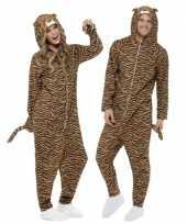 Pyamakostuum tijger dames heren carnaval