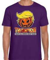 Trumpkin make halloween great again t kostuum paars heren carnaval
