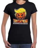 Trumpkin make halloween great again t kostuum zwart dames carnaval