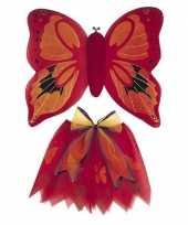 Vlinder vleugels verkleed kostuum rood kinderen carnaval
