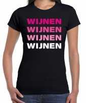 Wijnen wijnen wijnen wijnen t kostuum zwart dames carnaval