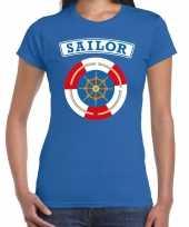 Zeeman sailor verkleed t kostuum blauw dames carnaval